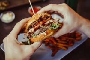 Burger po treningu
