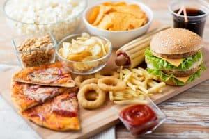 Jedzenie fast foodow